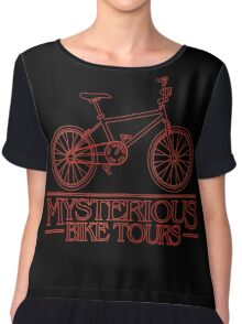Mysterious Bike Tours Chiffon Top