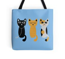 Three wise cats Tote Bag