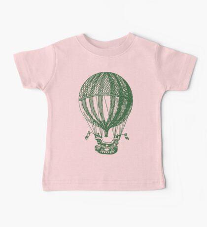Vintage Card - Hot Air Balloon Baby Tee