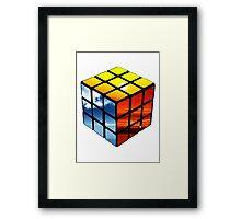 Rubiks Cube Framed Print