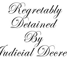 Regretably Detained By Judicial Decree. by IntrovertArt