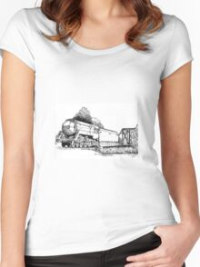 3801 bullet Nose Train Women's Fitted Scoop T-Shirt