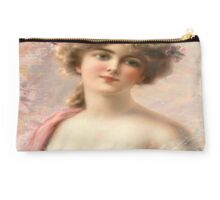 victorian beauty,old, reproduction of angelic looking young lady,Visteria, flower, pretty,classical,art,vintage,greek art,beautiful Studio Pouch
