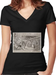 Performing Arts Posters Sam Pitmans big production A fortune hunter 0904 Women's Fitted V-Neck T-Shirt