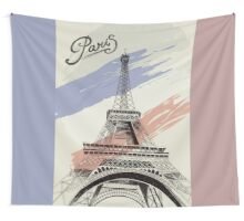 Paris France - Eiffel Tower Wall Tapestry