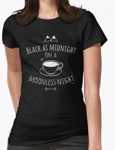 Black as Midnight Womens Fitted T-Shirt