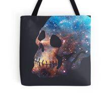 Deep Galaxy Skull Design Tote Bag