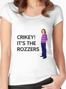 "James May ""Crikey! It's the rozzers"" original design Women's Fitted Scoop T-Shirt"
