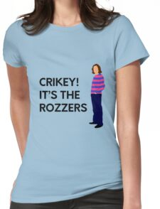 """James May """"Crikey! It's the rozzers"""" original design Womens Fitted T-Shirt"""