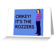 "James May ""Crikey! It's the rozzers"" original design Greeting Card"