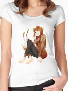 Spice and Wolf - Horo Women's Fitted Scoop T-Shirt