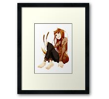 Spice and Wolf - Horo Framed Print