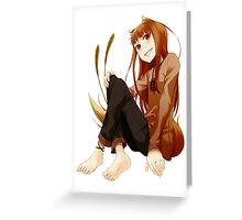 Spice and Wolf - Horo Greeting Card