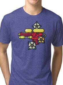 Flowers and watergun Tri-blend T-Shirt