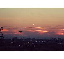 Summer Sunsets and Planes Photographic Print
