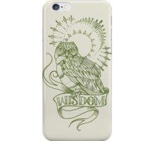wisdom owl tattoo shirt iPhone Case/Skin