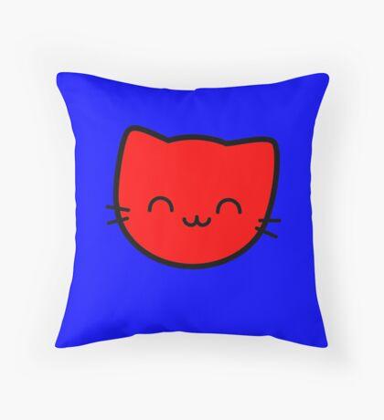 Kawaii Kitty Cats 2048 - tile 8 Throw Pillow