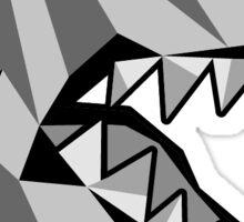 Toronto Raptors Retro Low Poly Head (Black & White) Sticker
