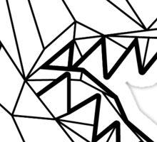 Toronto Raptors Retro Low Poly Head (Outline) Sticker