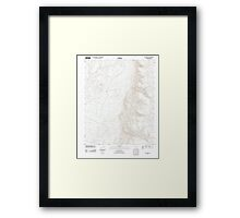 USGS TOPO Map Arizona AZ Olaf Knolls 20111129 TM Framed Print