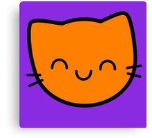 Kawaii Kitty Cats 2048 - tile 16 Canvas Print