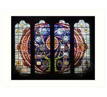 Millenium Stained Glass Window Art Print