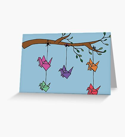Paper Birds Greeting Card