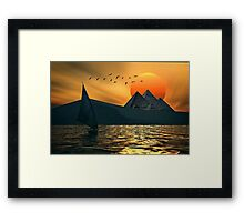 Egypt in the night Framed Print