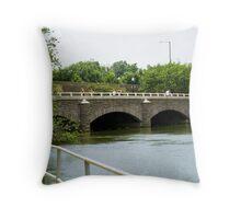 Bridge by Potomac River Throw Pillow