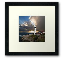 Lookout Lighthouse Framed Print