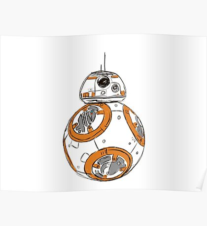 bb8 colour Poster