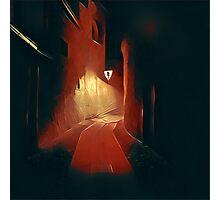 Dark night, red light Photographic Print