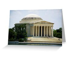 Jefferson Memorial Side Greeting Card
