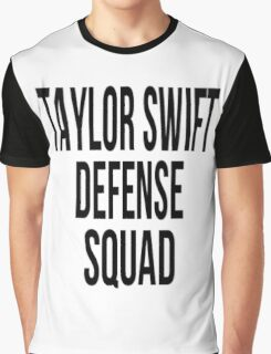 Taylor Swift Defense Squad Typography Print Graphic T-Shirt