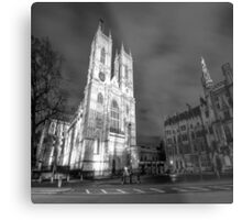 Cathedral by Night - black and white Metal Print
