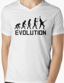 Guitar Evolution Mens V-Neck T-Shirt
