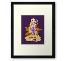 Keep Calm and Carry a Frying Pan Framed Print
