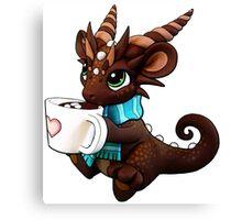 Hot Cocoa Dragon Canvas Print