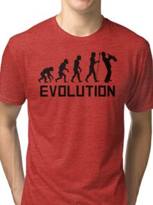 Saxophone Evolution Tri-blend T-Shirt