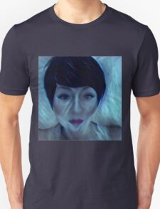 electrifying art,contemporary, modern ,trendy,hand painted and drawn face, portrait of woman Unisex T-Shirt