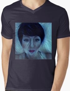 electrifying art,contemporary, modern ,trendy,hand painted and drawn face, portrait of woman Mens V-Neck T-Shirt