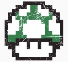 Green Mushroom One Piece - Short Sleeve