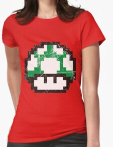 Green Mushroom Womens Fitted T-Shirt