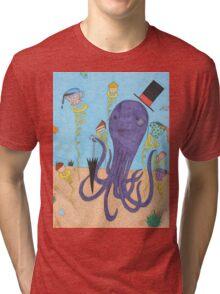Octopus Tea Party Tri-blend T-Shirt