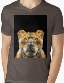 Big Cat Mens V-Neck T-Shirt
