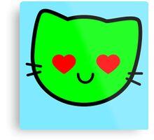Kawaii Kitty Cats 2048 - tile 512 Metal Print
