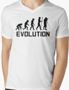 Photographer Evolution Mens V-Neck T-Shirt