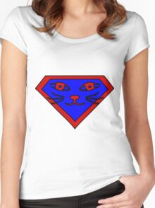 Hero, Heroine, Superhero, Super Cat Women's Fitted Scoop T-Shirt