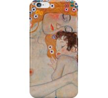 Gustav Klimt, mother and child,reproduction,art nouveau,great art from vintage painters iPhone Case/Skin