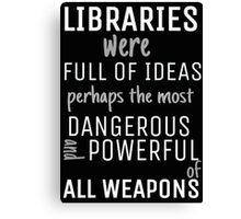 Libraries Canvas Print